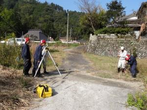 用地境界測量の実習